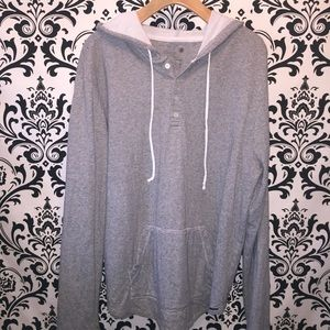 On the Byas long sleeve hooded shirt size XL